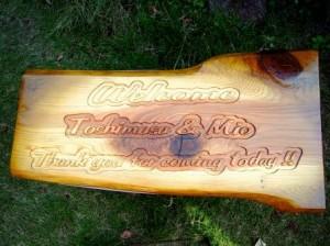 ウェディングボード 木彫り1